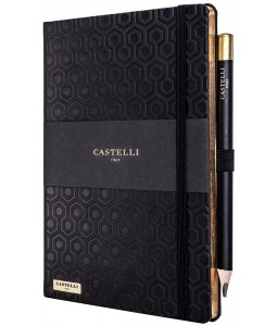 Honeycomb Ivory Notebook Black