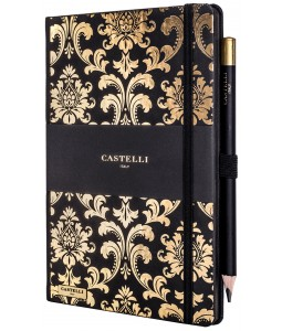 Baroque Ivory Notebook Gold