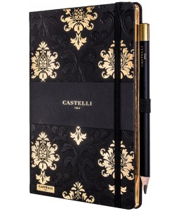 Baroque Ivory Notebook Black and Gold