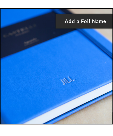 Personalise your 2019 diary or notebook with a foil name