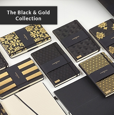 Castelli Black and Gold Diary Collection