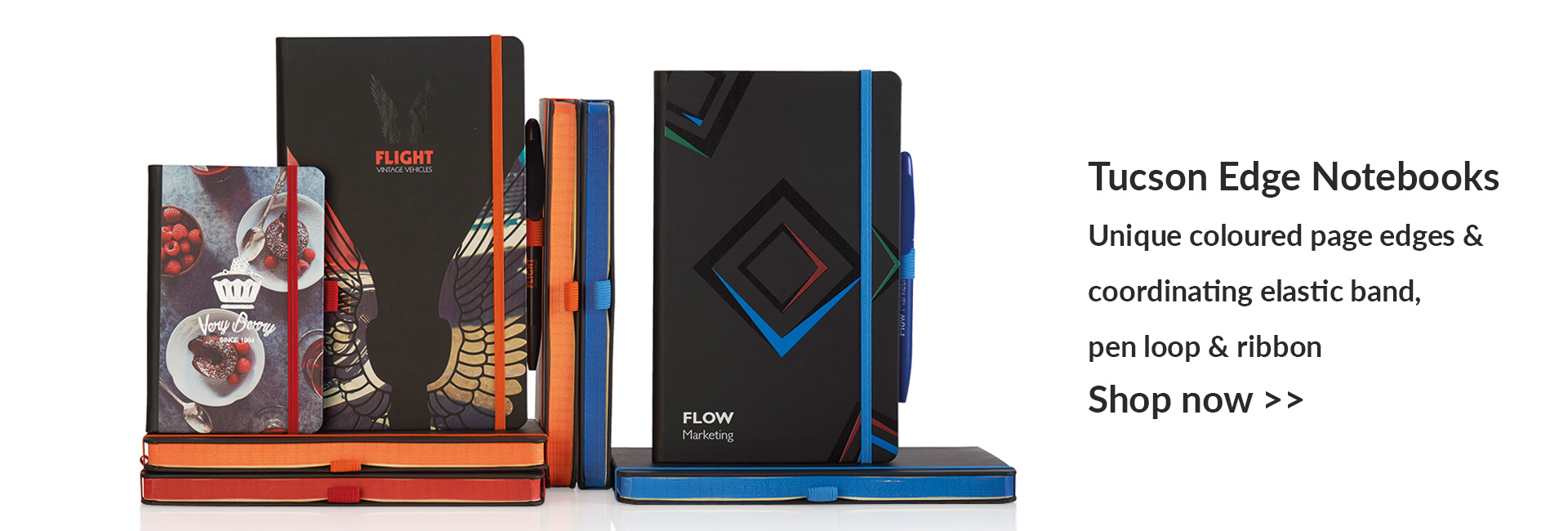 Notebooks with company branding options available